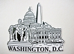 Washington D.C. Black White Collage Fridge Magnet Design 25