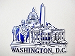 Washington D.C. Blue White Collage Fridge Magnet Design 25