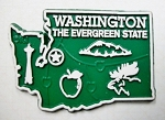 Washington State Outline Fridge Magnet Design 2