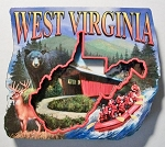 West Virginia Montage Artwood Fridge Magnet Design 27