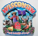 Wisconsin Montage Artwood Magnet Design 16