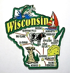 Wisconsin Jumbo Map Fridge Magnet