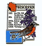 Wisconsin Square Montage Fridge Magnet Design 5
