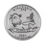 Wisconsin State Quarter Fridge Magnet Design 13