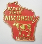 Wisconsin State Outline Fridge Magnet Design 10