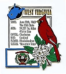 West Virginia Square State Montage Fridge Magnet Design 5