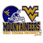WVU Helmet Fridge Magnet-NCAA