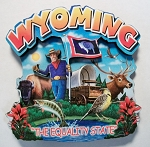 Wyoming Montage Artwood Fridge Magnet Design 16