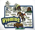 Wyoming Jumbo Map Fridge Magnet Design 9