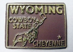 Wyoming State Outline Fridge Magnet