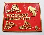 Wyoming State Outline Map Fridge Magnet