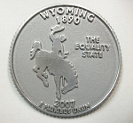 Wyoming State Quarter Fridge Magnet Design 13