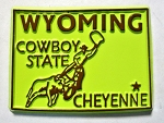 Wyoming State Outline Fridge Magnet Design 10