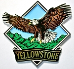 Yellowstone National Park with Eagle Fridge Magnet Design 1