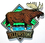 Yellowstone National Park with Moose Fridge Magnet Design 1