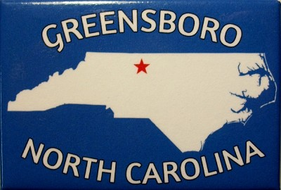 Greensboro North Carolina Blue Fridge Magnet