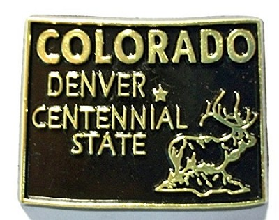 Colorado The Centennial State Souvenir Black and Gold Fridge Magnet Design 10