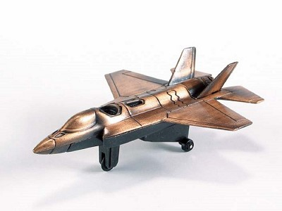 F-35 Joint Strike Fighter Jet Die Cast Metal Collectible Pencil Sharpener Design 1