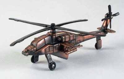 Army Apache Helicopter Die Cast Metal Collectible Pencil Sharpener Design 1