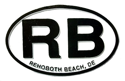 Rehoboth Beach Delaware White Oval Fridge Magnet