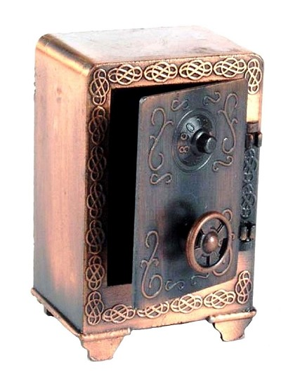 Old Time Safe Die Cast Metal Collectible Pencil Sharpener