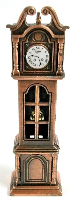 Grandfather Clock Die Cast Metal Collectible Pencil Sharpener Design 1