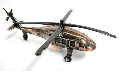 Army Blackhawk Helicopter Die Cast Metal Collectible Pencil Sharpener Design 1