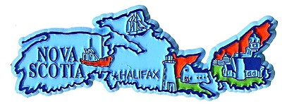 Nova Scotia Halifax 4 Color Canadian Province Fridge Magnet