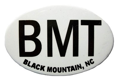 Black Mountain BMT North Carolina Oval Fridge Magnet