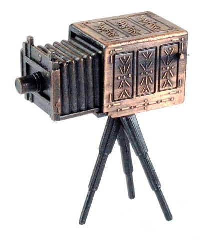 Box Camera with Tripod Die Cast Metal Collectible Pencil Sharpener