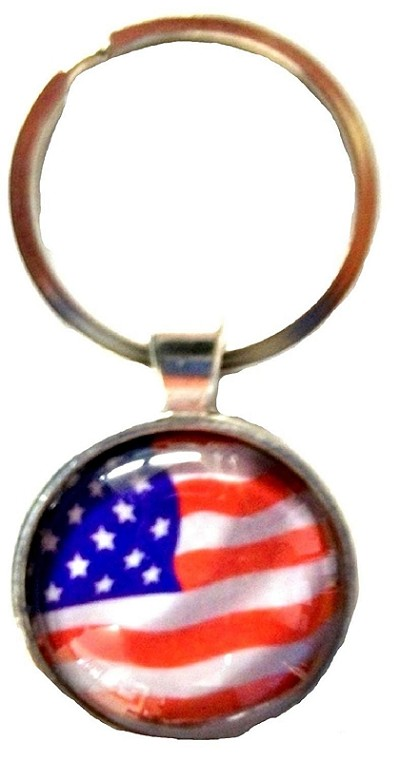 American Flag Bubble Keychain