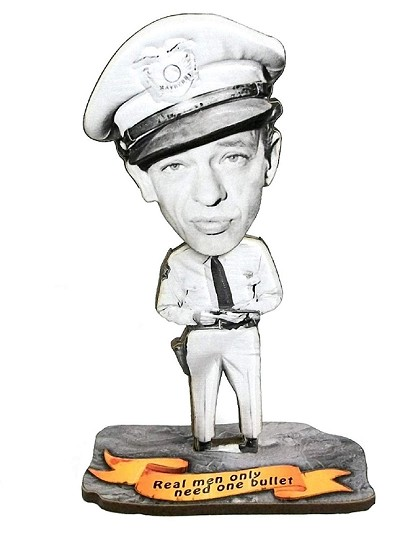 Barney Fife Real Men Only Need One Bullet Bobble Head