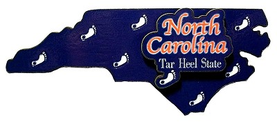 North Carolina The Tar Heel State 3-D Artwood Fridge Magnet