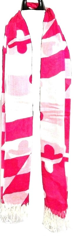 Maryland Flag Pink Scarf