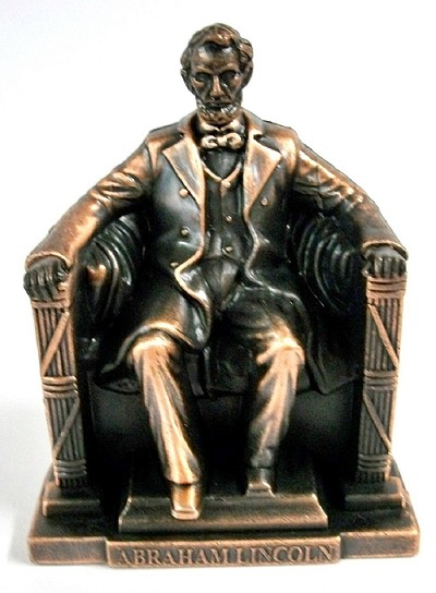 Abraham Lincoln Memorial Die Cast Metal Collectible Pencil Sharpener Design 1