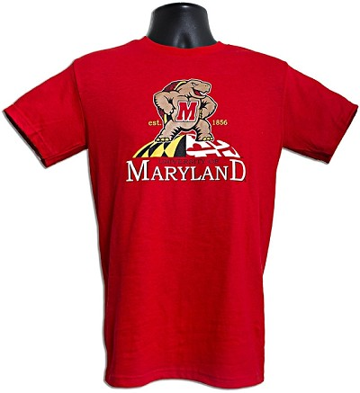 Maryland Terrapins Red Tee Shirt Design 27