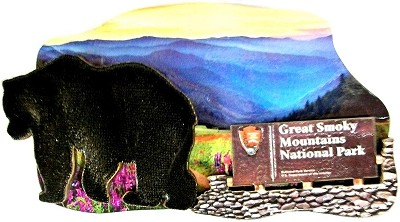 Great Smoky Mountains National Park with Bear Fridge Magnet