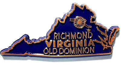 Virginia State Outline Fridge Magnet Design 10