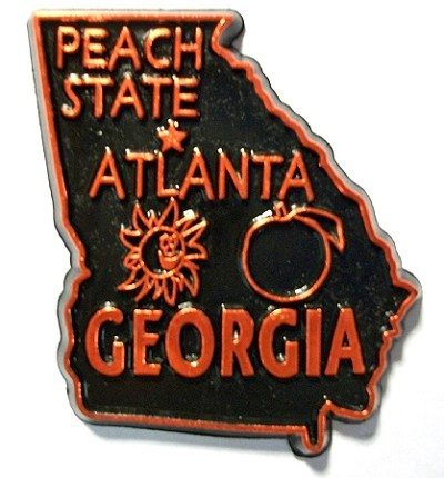 Georgia State Outline Magnet Design 10