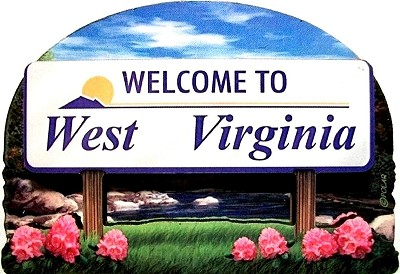 West Virginia State Welcome Sign Artwood Fridge Magnet