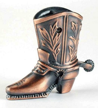 Cowboy Boot Die Cast Metal Collectible Pencil Sharpener Design 1