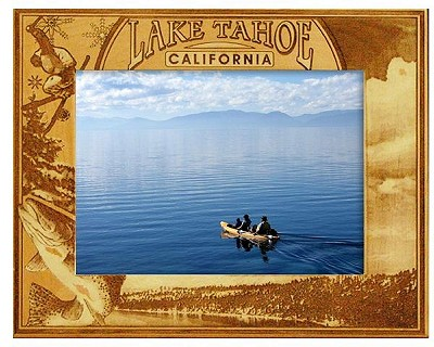 Lake Tahoe California Engraved Wood Picture Frame (5 x 7)
