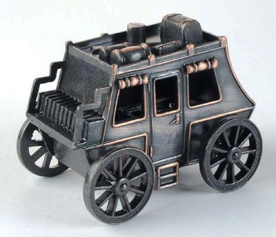 Old Time Stagecoach Die Cast Metal Collectible Pencil Sharpener Design 1