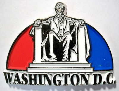 Lincoln Memorial Washington D.C. 4 Color Collage Fridge Magnet Design 1