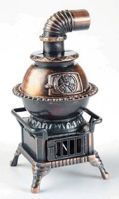 Pot Belly Stove Die Cast Metal Collectible Pencil Sharpener Design 1