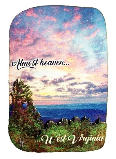 West Virginia Almost Heaven Sunset Artwood Fridge Magnet