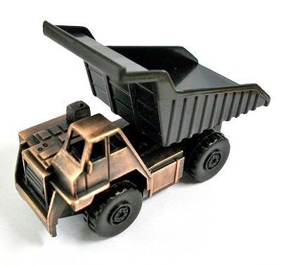 Off-Road 55 Ton Dump Truck Die Cast Metal Collectible Pencil Sharpener Design 1