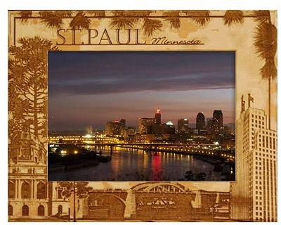 St. Paul Minnesota Laser Engraved Wood Picture Frame (5 x 7)