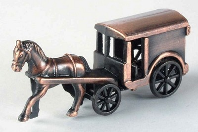 Coach with Horse Die Cast Metal Collectible Pencil Sharpener Design 1