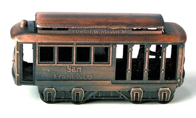 San Francisco Trolley Die Cast Metal Collectible Pencil Sharpener Design 1